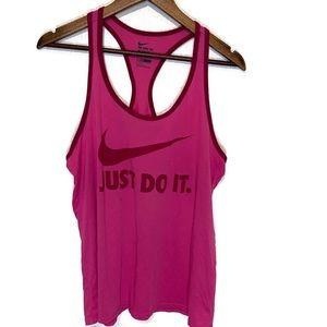 Nike Dri fit razor back tank large pink